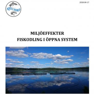 Ny Rapport om Fiskodling i Öppna System